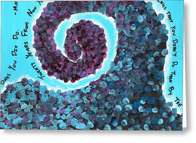 Mark Twain Flowers Greeting Card by Jera Sky
