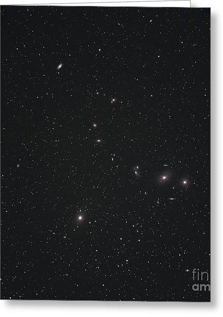 Markarians Chain Galaxies Greeting Card