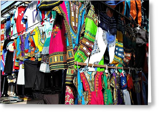 Market Of Djibuti With More Colors Greeting Card by Jenny Senra Pampin