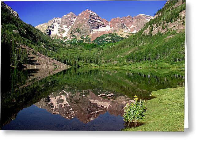 Maroon Bells Shoreline Greeting Card