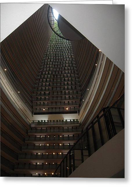 Marriot Marquis Greeting Card by Sarah Hannush
