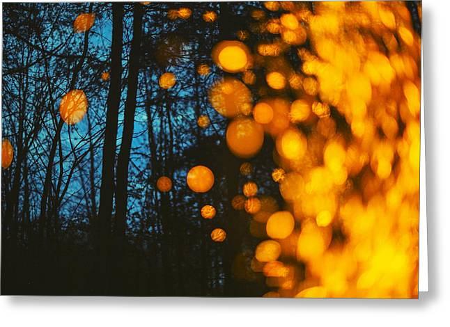 Forest Pyrography Greeting Cards - Mars Greeting Card by Ksenia Soboleva