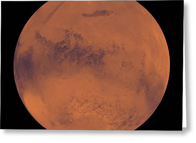 Mars Greeting Card by Stocktrek Images