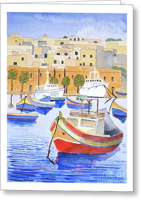 Marsaxlokk Harbour Greeting Card