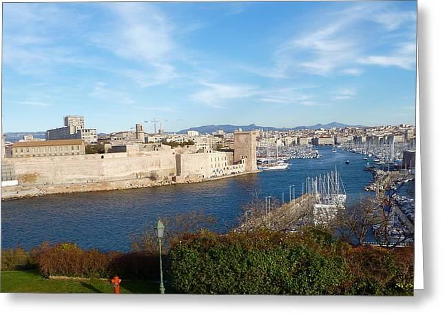 Marseille Vieux Port Greeting Card by Amelia Racca