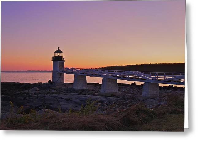 Marshell Point Light House Greeting Card