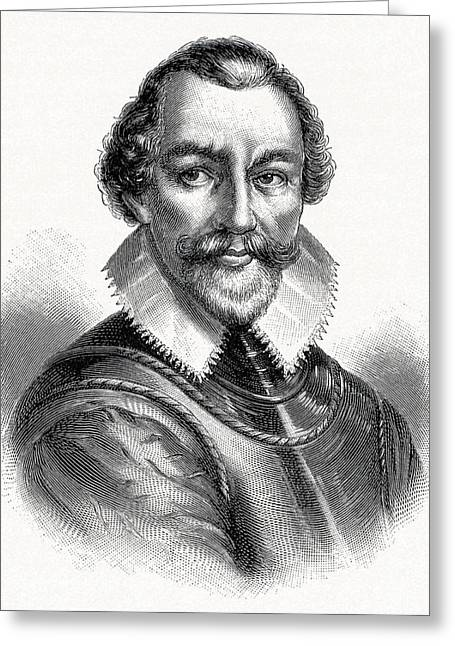 Martin Frobisher, English Explorer Greeting Card by Cci Archives