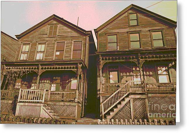 Martin Street Houses Greeting Card by Padre Art