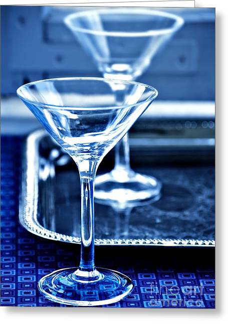 Martini Glasses Greeting Card by HD Connelly