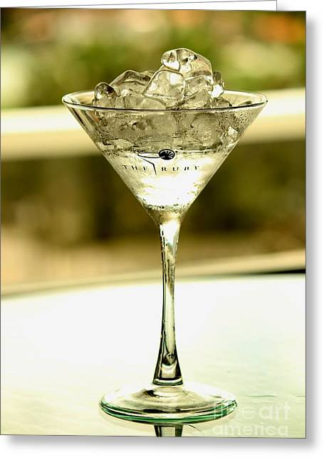 Martini Xvi Greeting Card by Rene Triay Photography