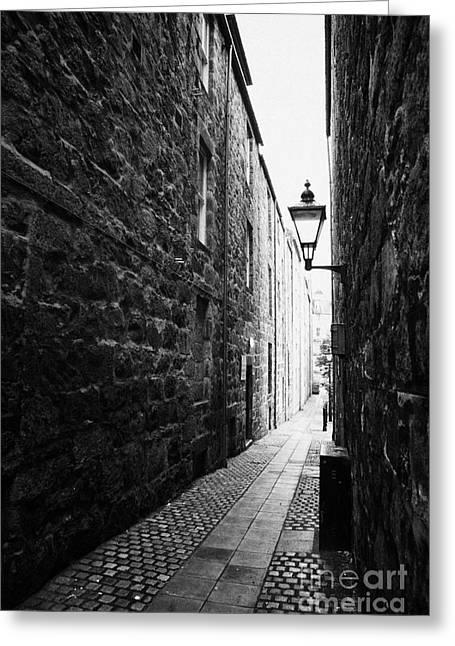 Martins Lane Narrow Entrance To Tenement Buildings In Old Aberdeen Scotland Uk Greeting Card by Joe Fox