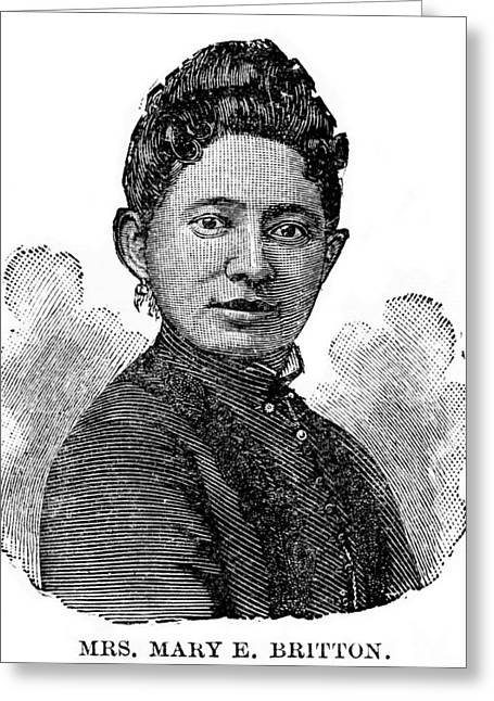 Mary Britton, Us Medical Pioneer Greeting Card