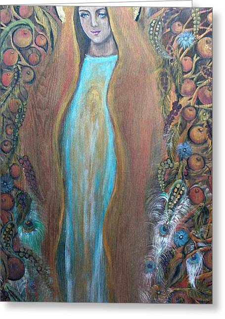 Mary Magdalene And The Tree Of Life Greeting Card