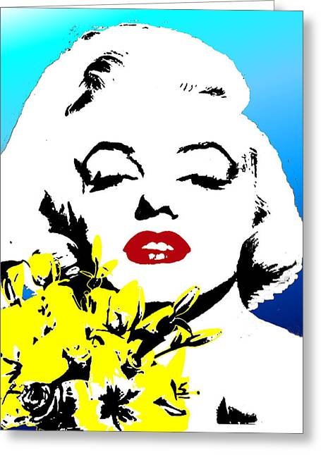 Greeting Card featuring the painting Marylin Monroe by Jann Paxton