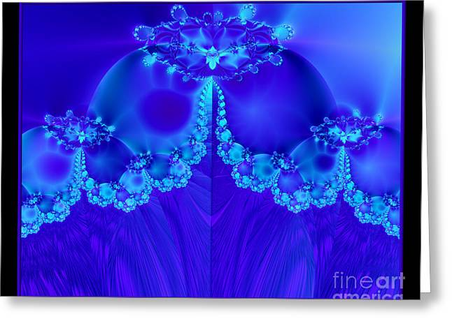 Marys Veil Fractal 60 Greeting Card by Rose Santuci-Sofranko