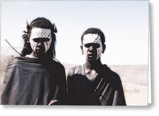 Masai Teens On Quest Greeting Card