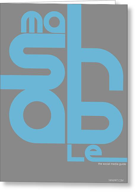 Mashable Poster Greeting Card