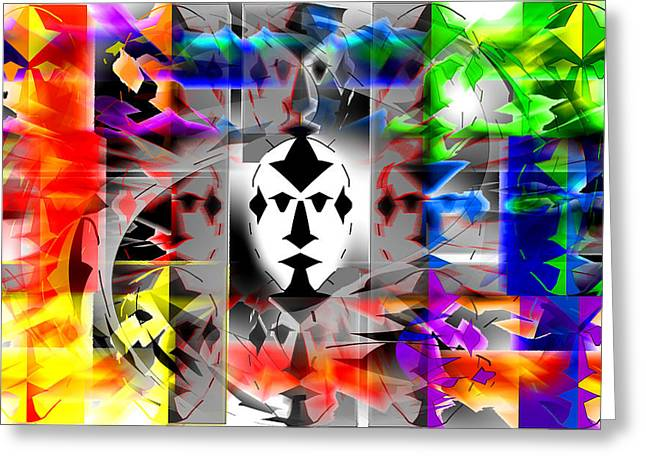 Mask Contemplations Greeting Card by AW Sprague II