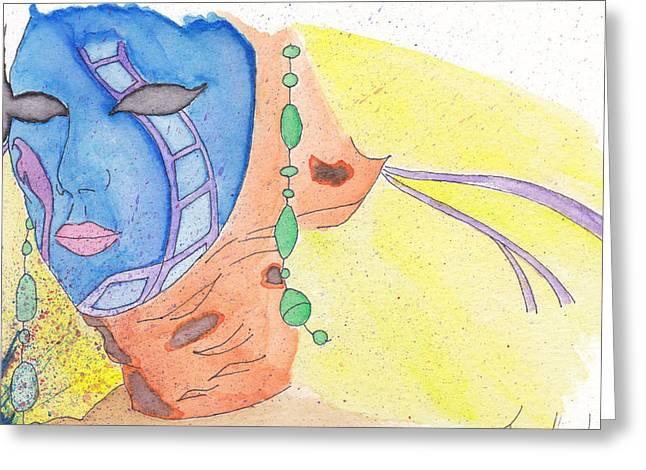 Mask Greeting Card by Jona Henshall