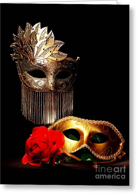 Masquerade Greeting Card by Gary Scott