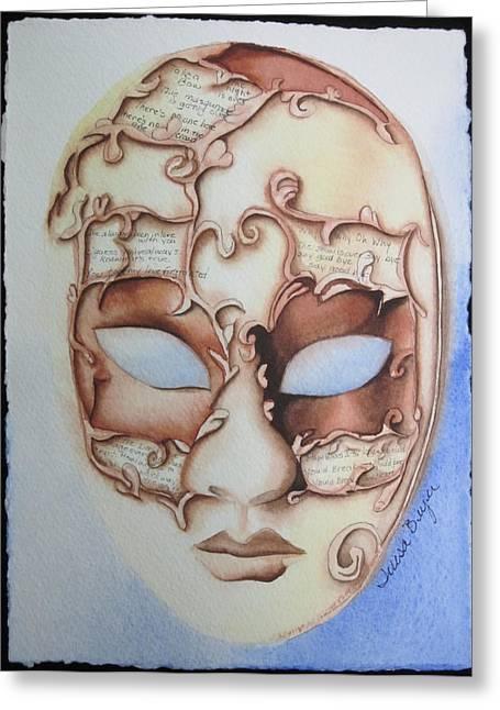 Masquerade Greeting Card by Teresa Beyer