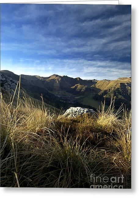 Massif Of Sancy In Auvergne. France Greeting Card
