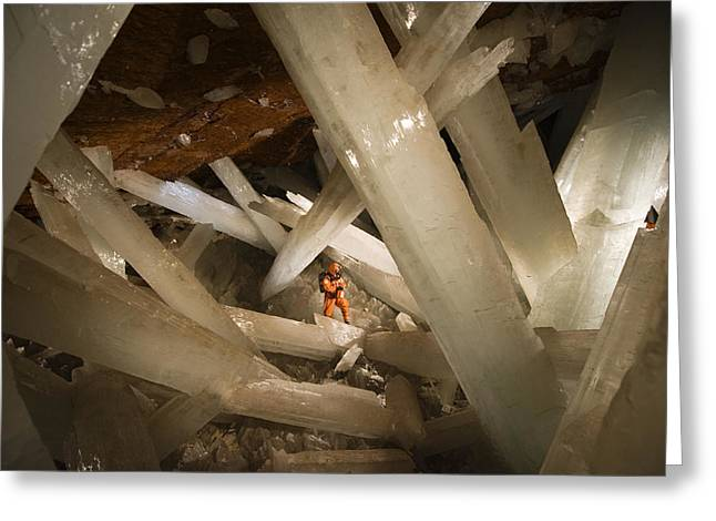 Massive Beams Of Selenite Dwarf An Greeting Card by