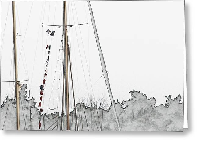 Mast Head Greeting Card by Hannah Breidenbach