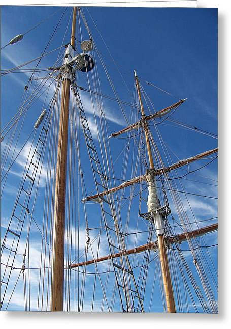 Greeting Card featuring the photograph Masts by Robin Regan
