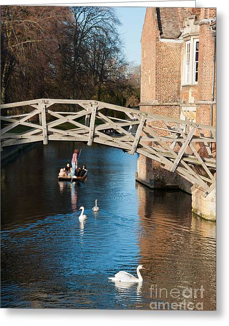 Mathematical Bridge Greeting Card by Andrew  Michael