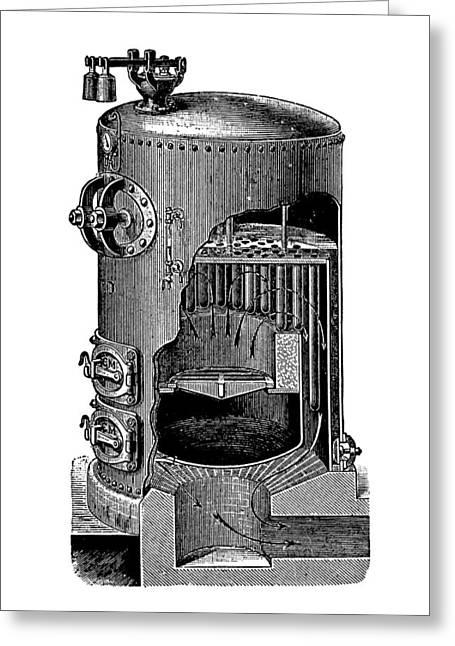 Mathian Steam Boiler Greeting Card by Mark Sykes