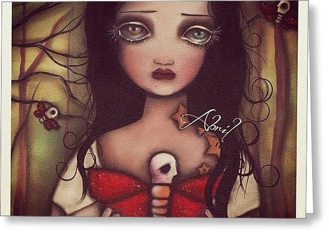Matilda - #abrilandrade Greeting Card by  Abril Andrade Griffith