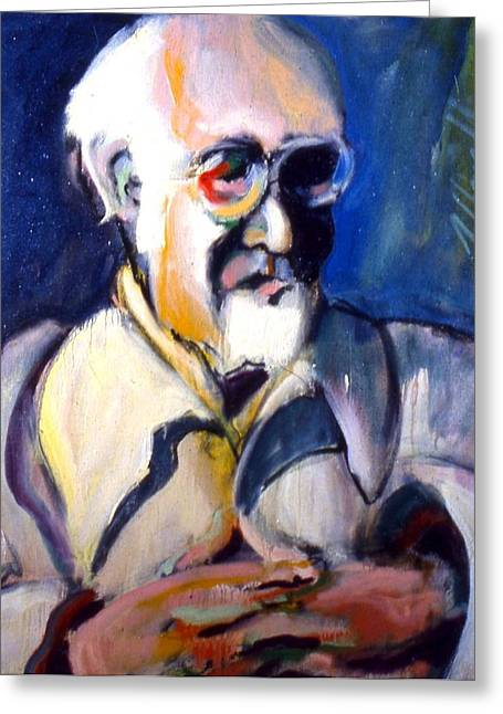 Greeting Card featuring the painting Matisse by Les Leffingwell