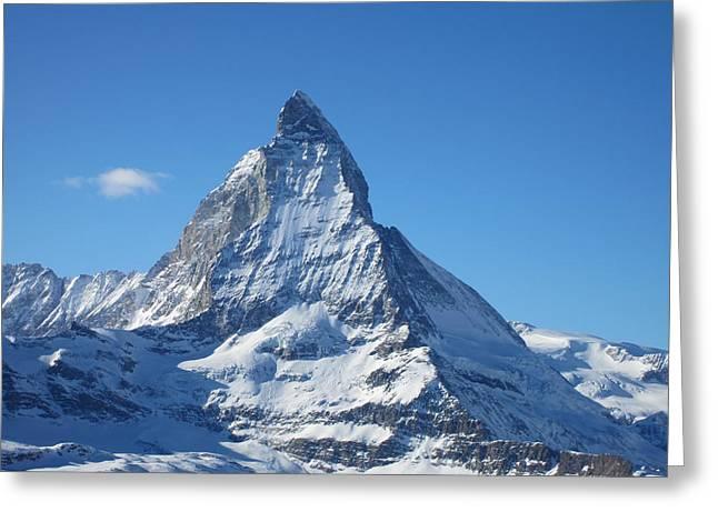 Matterhorn Greeting Card by Dion Halliday