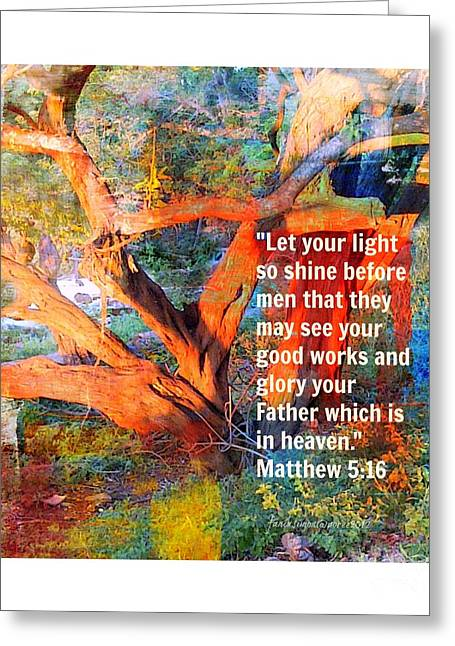 Matthew 5 Greeting Card by Fania Simon