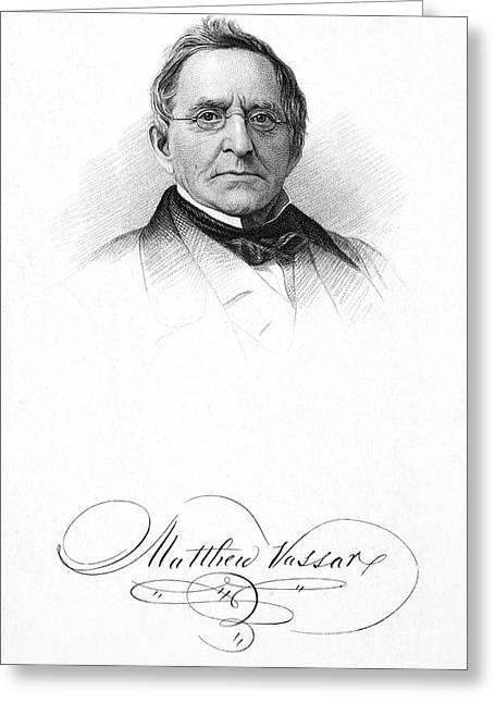 Matthew Vassar (1792-1868) Greeting Card by Granger