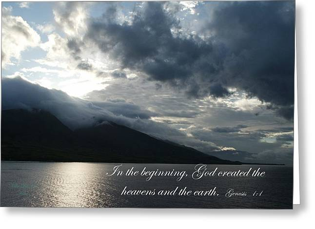 Maui Scripture II Greeting Card by Mike Lytle