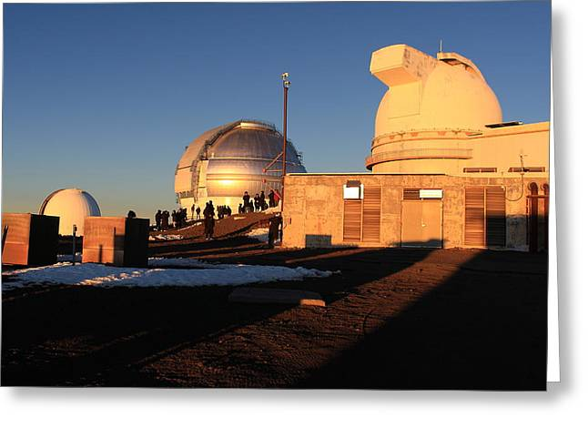 Greeting Card featuring the photograph Mauna Kea Observatories by Scott Rackers
