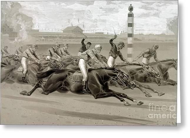 Maurer: Horse Race Greeting Card