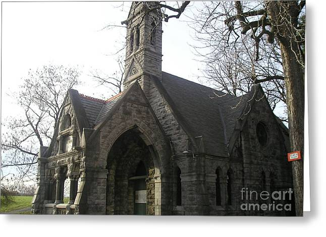 Mausoleum Greeting Card by Silvie Kendall