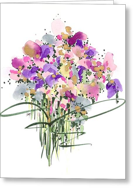 Mauvey Bouquet Greeting Card