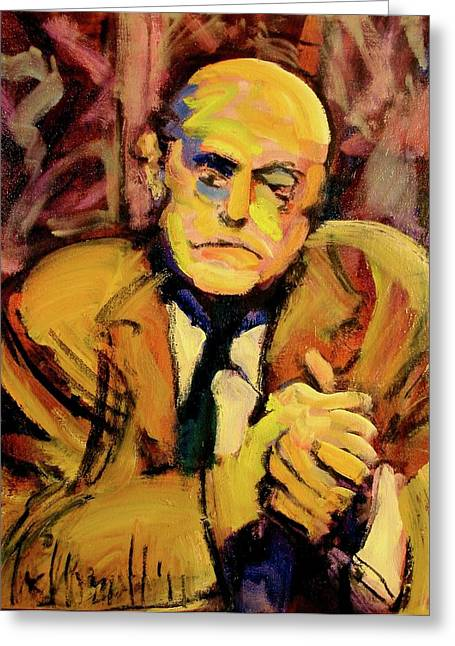 Greeting Card featuring the painting Max Beckman by Les Leffingwell