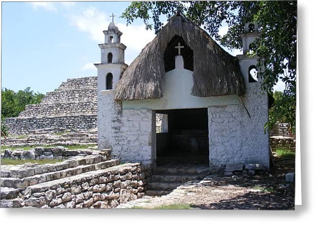 Greeting Card featuring the photograph Mayan Chapel by Diane Ferguson