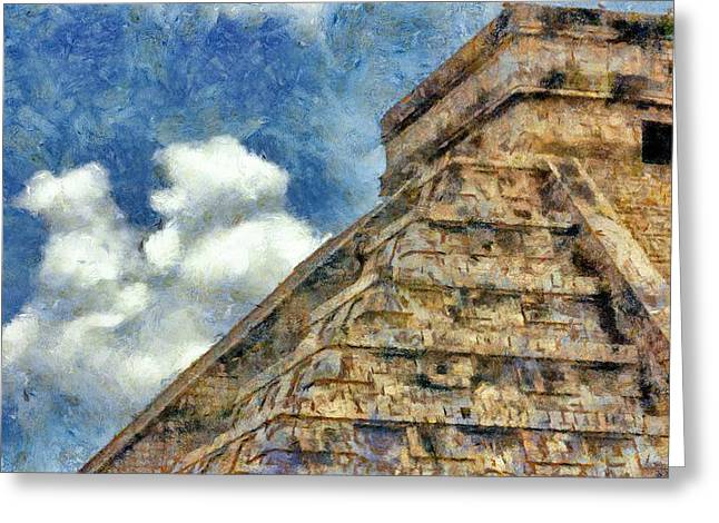 Mayan Mysteries Greeting Card by Jeff Kolker