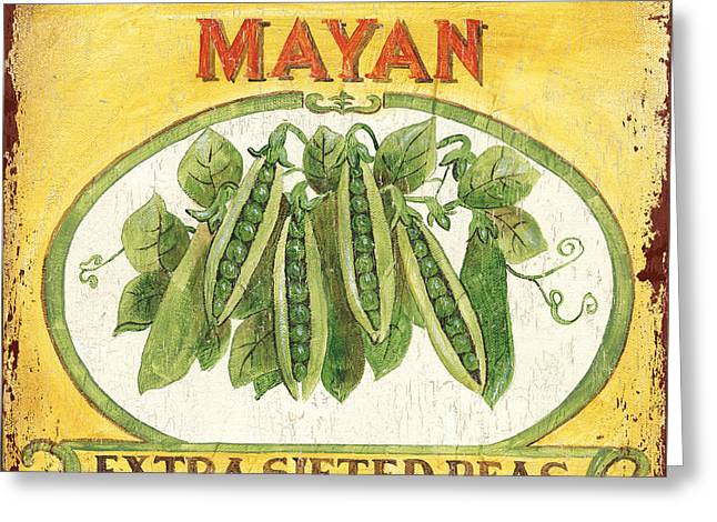 Mayan Peas Greeting Card by Debbie DeWitt