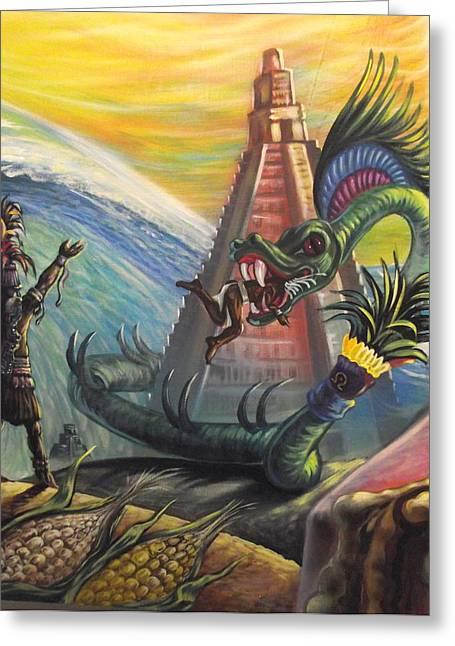 Mayan Predictions 2012 Greeting Card by Joe Santana