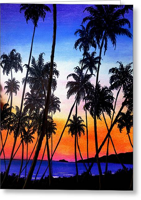 Mayaro Red Dawn Greeting Card by Karin  Dawn Kelshall- Best