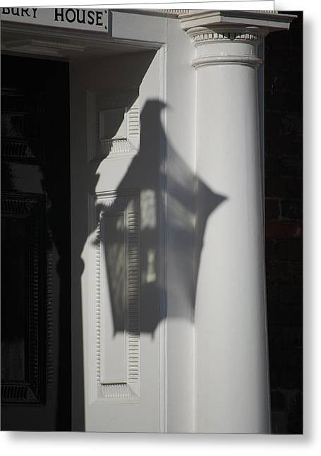 Mayfair Shadows Greeting Card by Dickon Thompson