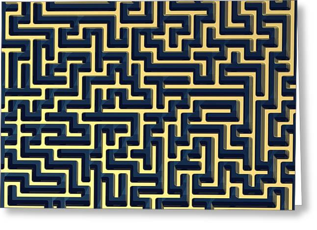 Maze, Artwork Greeting Card by Laguna Design