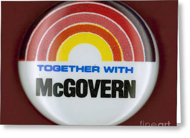 Mcgovern Campaign Button Greeting Card by Granger